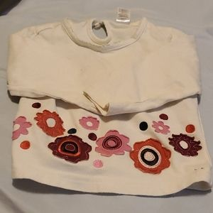 George - White Tee w Flowers 12 Months